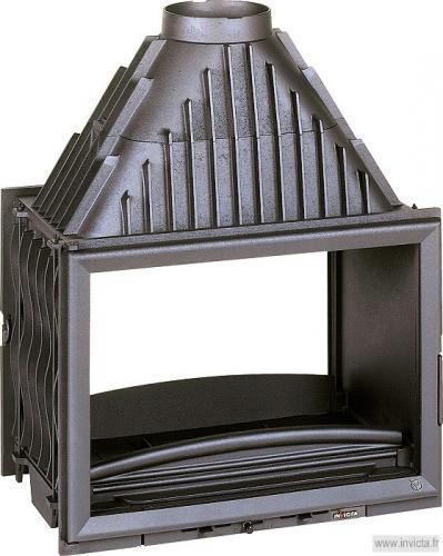 chemin e foyer ferm invicta foyer 700 double face. Black Bedroom Furniture Sets. Home Design Ideas