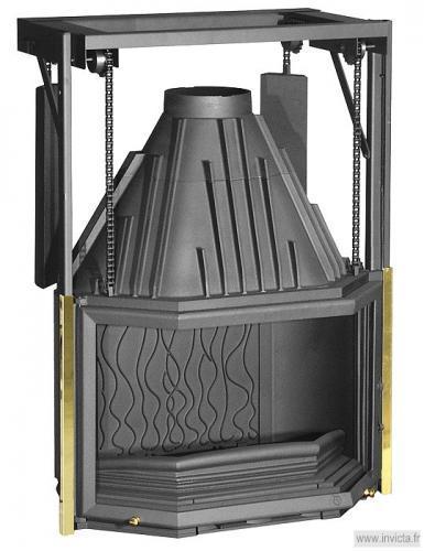 chemin e foyer ferm invicta foyer 850 double. Black Bedroom Furniture Sets. Home Design Ideas