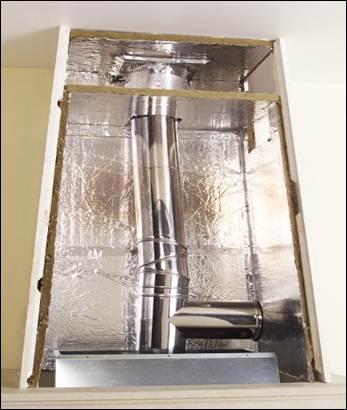 La hotte d 39 un foyer ferm principe de fonctionnement - Peinture pour hotte de cheminee ...